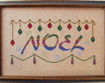 SALE! Christmas Cross Stitch Instant Download PDF Pattern Noel Counted Embroidery Design Festive Holidays Yule Garland X Stitch DIY Decor