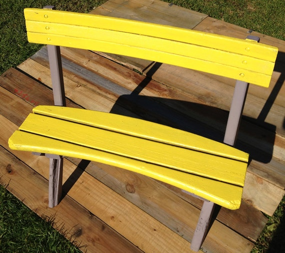 upcycled outdoor bench seat