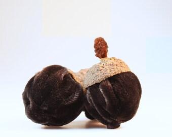 Handcrafted Velvet Acorn Sachets