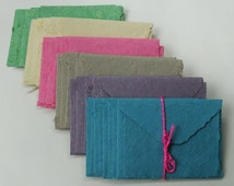 Hand made paper stationery sets of 5 notes and envelopes