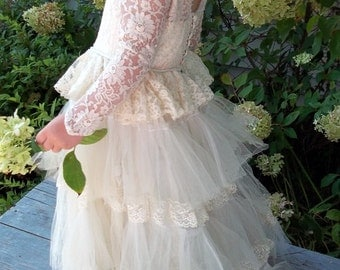 Vintage Miniature Bride Dress