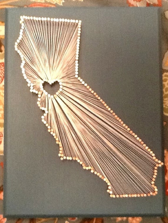 Items Similar To California Love String Art On Etsy