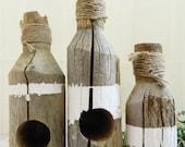 Driftwood Tea Light Candle Holders (Set of 3)