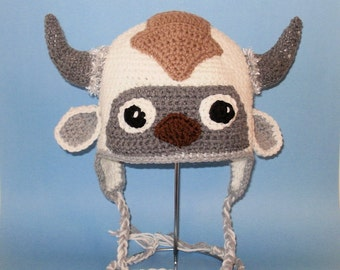 Appa Earflap Hat. (Any Sizes: Newborn to Adult). Please send the size.