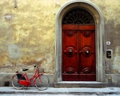 Red Bicycle 2, Florence:  8x12 inch archival inkjet print on 11x14 inch rag paper - RobertManz