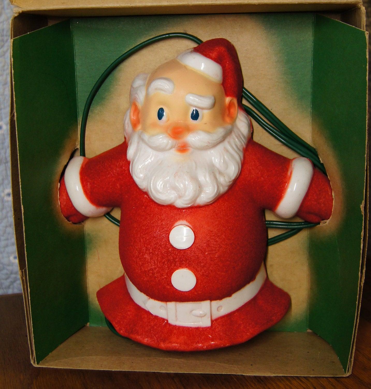 Christmas Tree Toppers Santa: Vintage Santa Claus Christmas Tree Topper // Santa-Glo