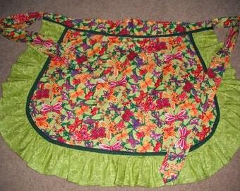 Women's Butterfly Print Half Apron