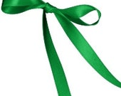 Offray Double Face Satin Ribbon, 1 /8 inch Wide, 10 Yards, Emerald - WorkingsTowardArt
