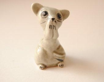 vintage kitsch mouse ornament salt shaker