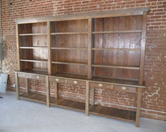 Recycled wood rustic hutch made in the USA