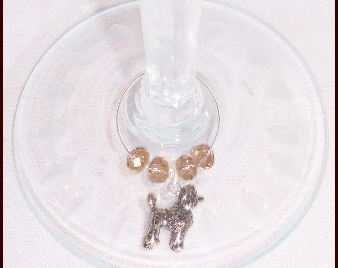 Toy Poodle Dog Wine Charms