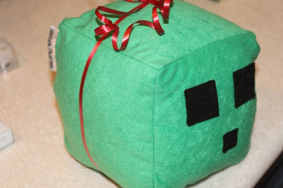Minecraft Green Slime Plush Toy, by Reilly's Plushies