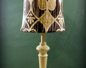 Dripping with diamonds shade and barely green table lamp