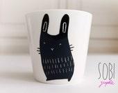 Unique model ceramic rabbit Cup