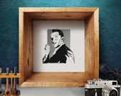 """vincent price // silkscreen art print // 12"""" x 12"""""""