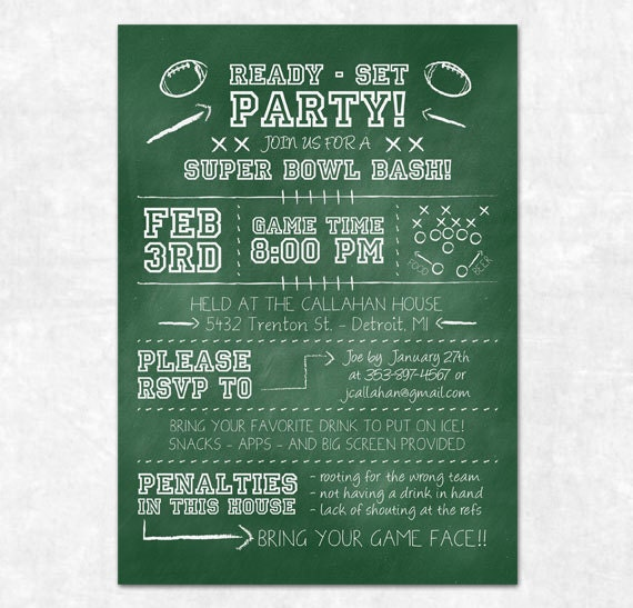 Superbowl Party Invite was perfect invitation sample