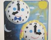 Annie's Attic Teach-Me-Time Crochet Kids Stuffed Learn To Tell Time Clock Pattern