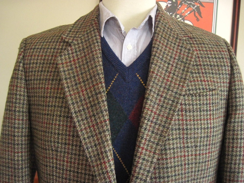 Vintage Donegal Tweed Jacket / Blazer 44R / by TheTweedJacket