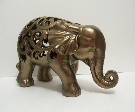 Items similar to elephant statue elephant figurine elephant decor home decor collectable Elephant home decor items