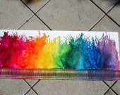 Rainbow Melted Crayons