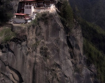 "Tiger's Nest: Paro Valley, Bhutan/ Fine Art Print from the HarmonyWishes Collection/ 6"" x 9"" image on 8.5"" x 11"" paper"