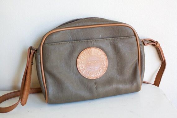 1980s perry ellis leather handbag