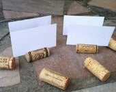 SUPER SALE Wine Cork Place Card Holders - set of 25 - Weddings -Birthdays - Shower - Parties