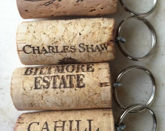 Set of 75 Wine Cork Keychain Favors Great for Weddings Parties or Showers