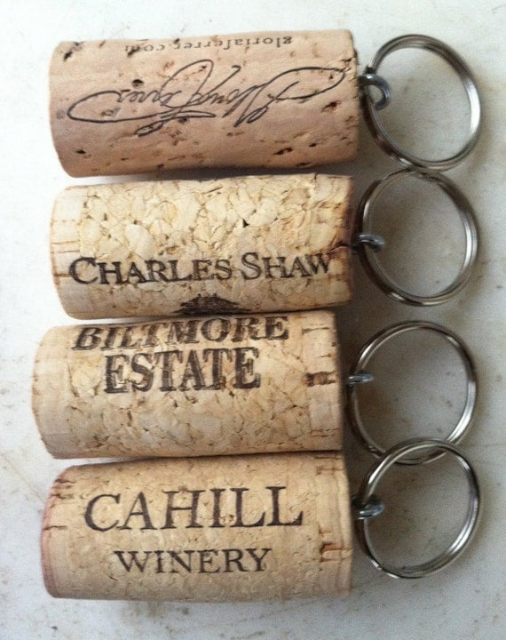 Set of 100 Wine Cork Keychain Favors Great for Weddings Parties or Showers