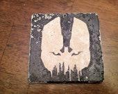 The Dark Knight Rises TDKR Bane Tumbled Marble stone coasters Set of 4
