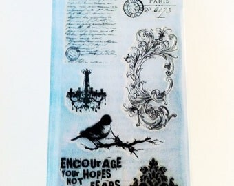 Tim Holtz Clear Stamp - French Connection CSS27850 SALE