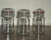 Trio of Pint Canning Jars