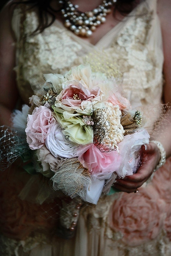 Upcycled Fabric Flower Bouquet