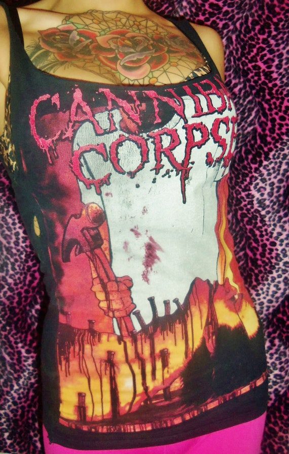 Small CANNIBAL CORPSE Sleeveless Band T-shirt