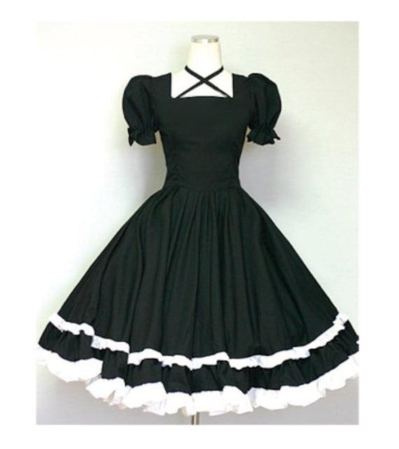 Gothic Lolita Dress Cute Goth Loli Dolly Dress-Custom made order