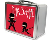 Personalized Ninja Lunchbox & Memory Box- Gift for Boys, Metal Lunch BOx