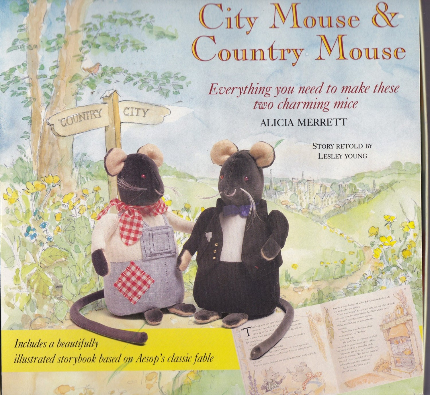 city mouse country mouse craft kit and storybook. Black Bedroom Furniture Sets. Home Design Ideas