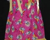 The Smurfs Smurfette Boutique Pillowcase Dress w/ Solid Yellow Layer 12/18M 24M/2T 3T/4T 5/6 7/8
