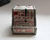 Vintage Tin Register Ten Cent Dime Bank - Free USA Shipping