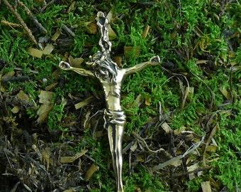 Passion Christ Cross Pendant 14kt Gold