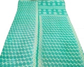 Cotton Kantha Bedsheet Twin Size Throw Vintage Quilt Reversible Bedspread India  - VGQ7