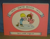 Joan Walsh Anglund / 1970 Date Book - Calendar / Original / MINT