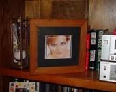 Solid cedar wood custom CD display case frame oak finish country rustic UV protected