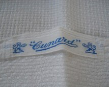 VintageTowel Cunard Line Steamship Co Cruise Ship, Souvenir
