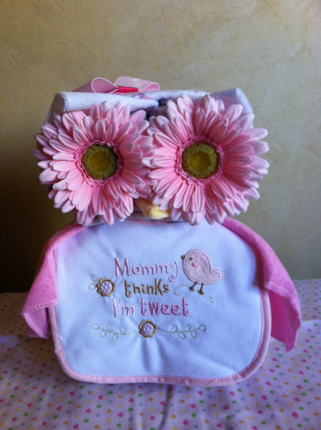 Owl Diaper Cake Decorations : Pin Owl Diaper Cake Baby Shower Decorations By ...