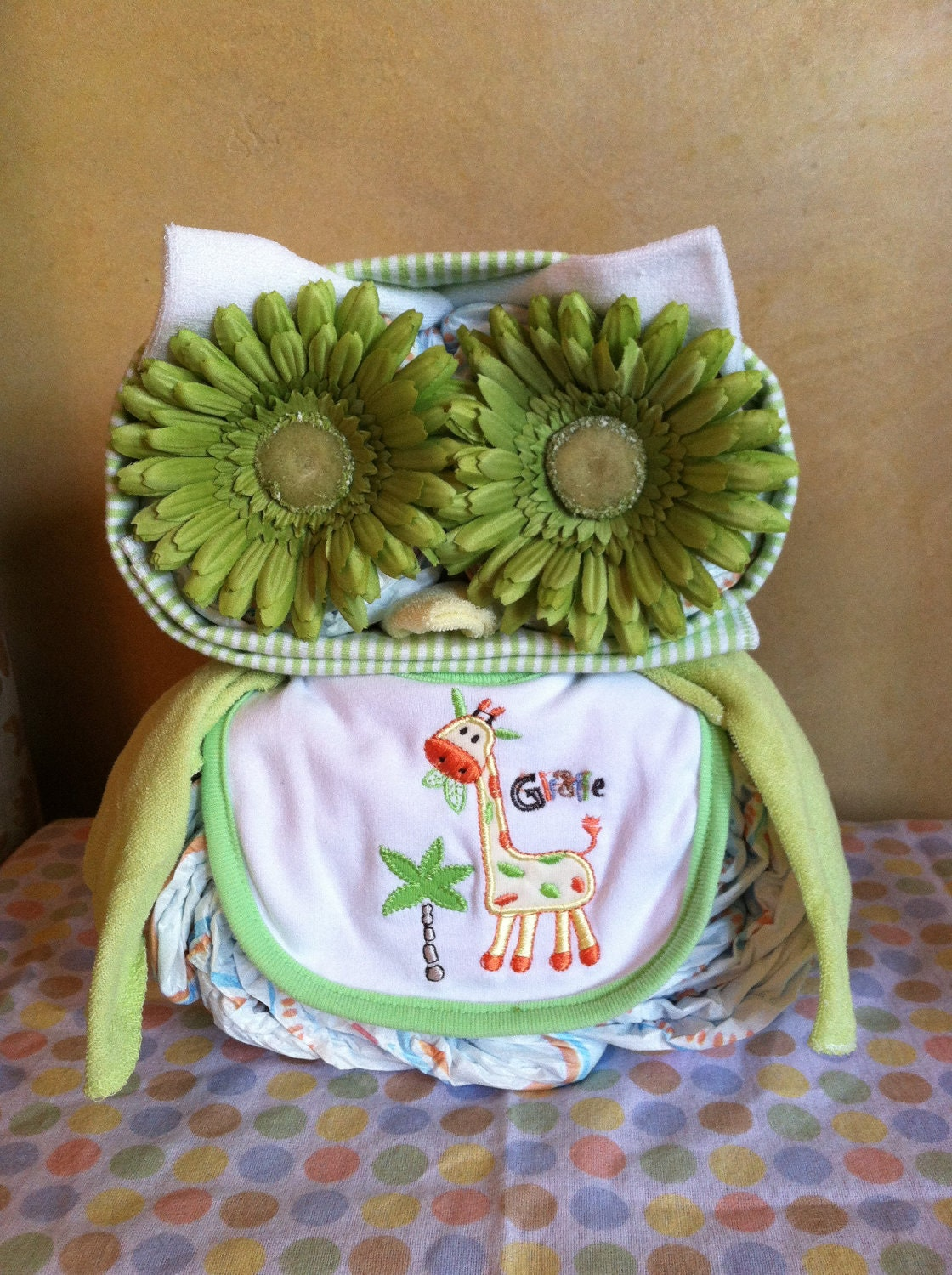 owl diaper cake owl baby shower diaper animal