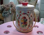 Vintage English Floral Candy Tin