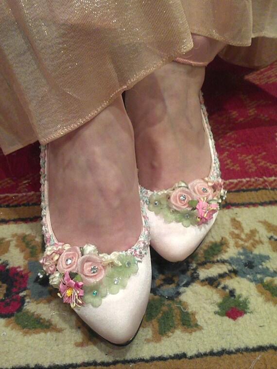 Cinderella crystal garden  baby-pink  bridal wedding heels,bridesmaid shoes (BS96653)