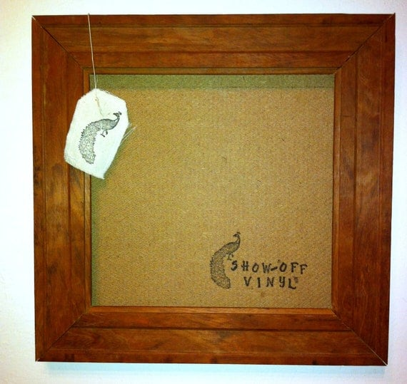Record Frame - Vintage Solid Brown
