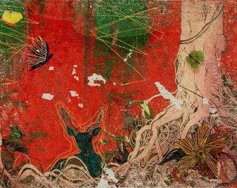 Dream of Forest - original artwork, Iron on transfer